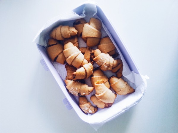 a box of croissants