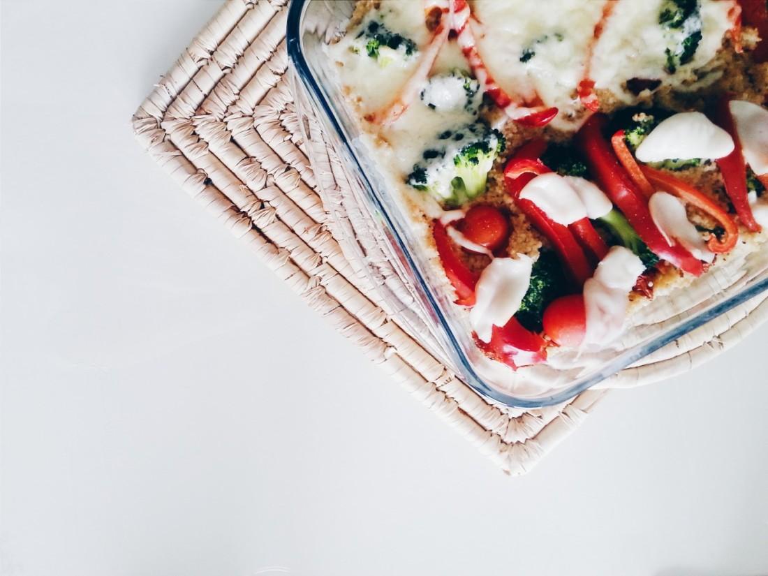 vegan baked couscous