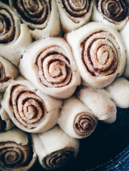 vegan mini cinnamon rolls