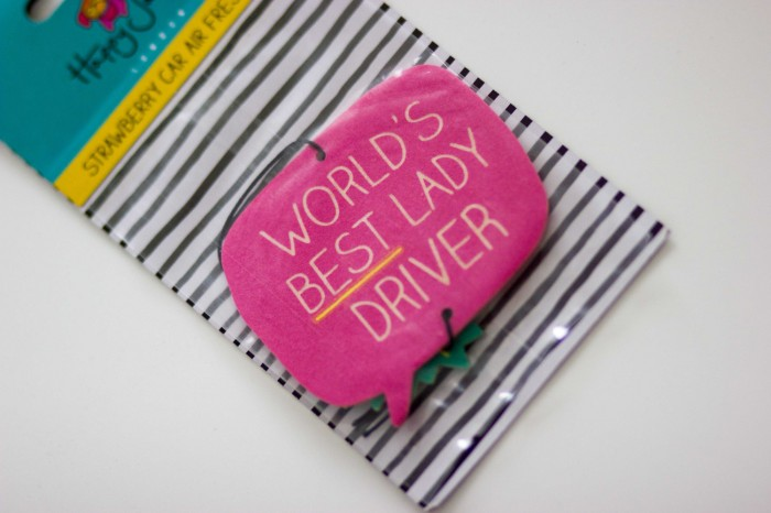 Happy Jackson World's Best Lady Driver Strawberry Car Freshener