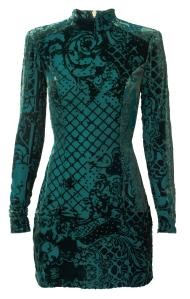 Balmain x H&M green dress